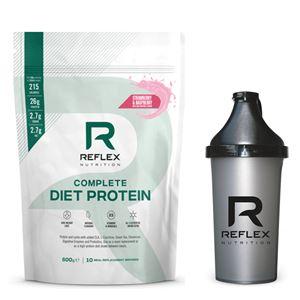 Complete Diet Protein 600g jahoda a malina + šejkr zdarma