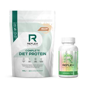 Complete Diet Protein 600g vanilkový fondán + Green Tea 100 kapslí