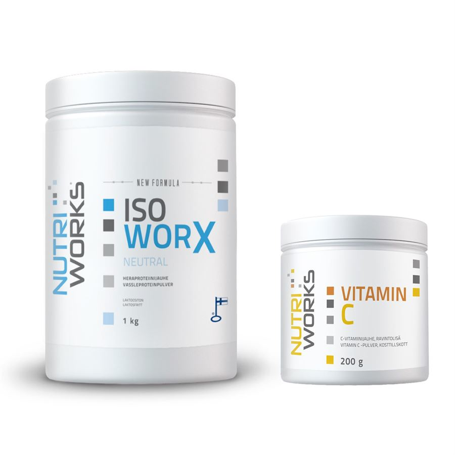 Iso Worx NEW FORMULA 1kg neutral + Vitamin C 200g ZDARMA