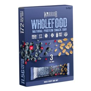 Wholefood Natural Protein Snack Bar 3 x 45g mixed berry and nut